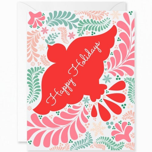 Otomi Red Dove Happy Holidays [English]