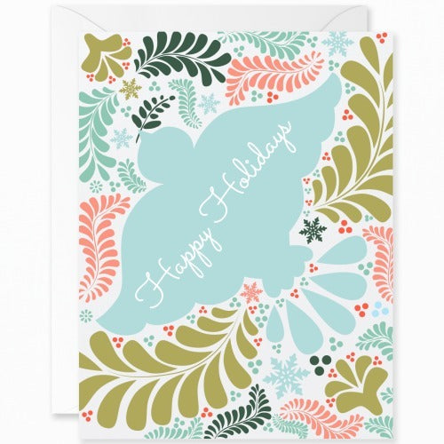 Otomi Teal Dove Happy Holidays [English]