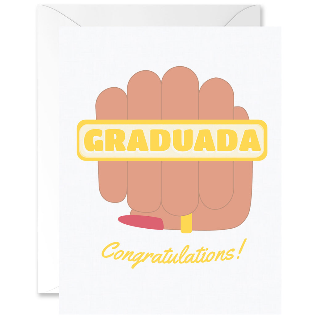 Graduada Congratulations Fist Graduation Greeting Card [Spanglish]