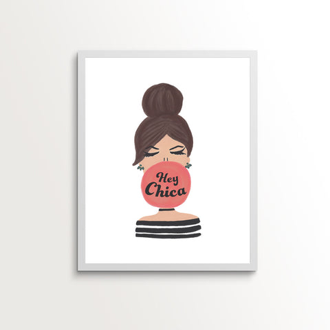 Hey Chica Bubble Gum Print
