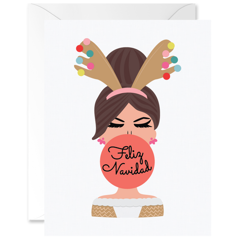 Hey Chica Merry Christmas Reindeer Outfit Sand Skin Tone [Spanish]