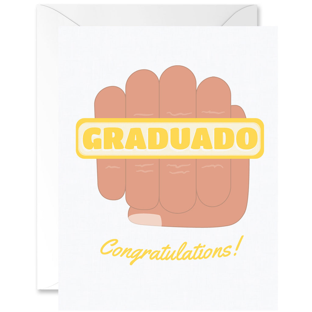 Graduado Congratulations Fist Graduation Greeting Card [Spanglish]