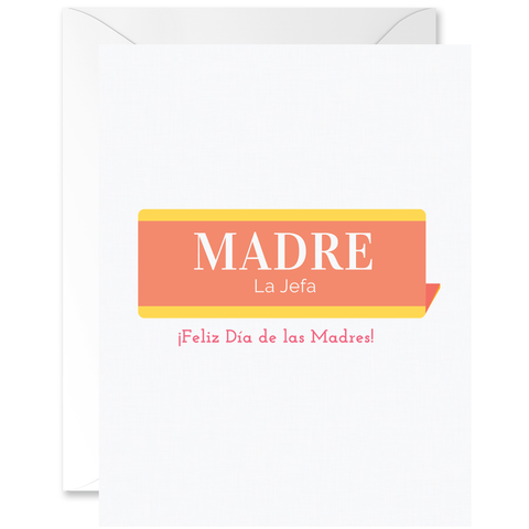 Vintage Name Plaque Madre La Jefa [Spanish]