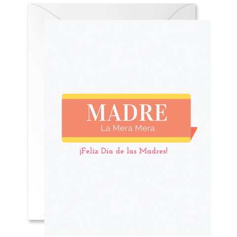 Vintage Name Plaque Madre La Mera Mera [Spanish]