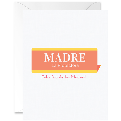 Vintage Name Plaque Madre La Protectora [Spanish]