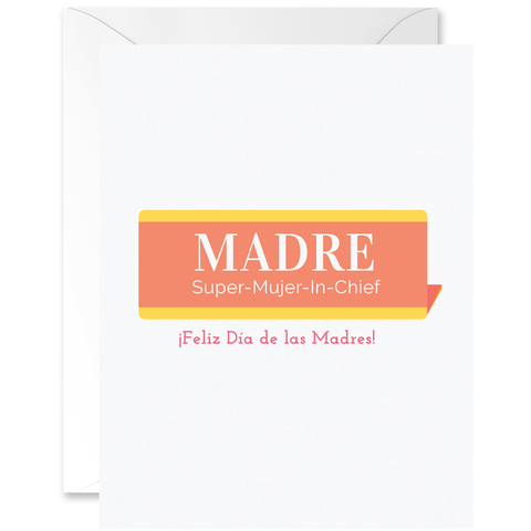 Vintage Name Plaque Madre Super-Mujer-In-Chief [Spanish]