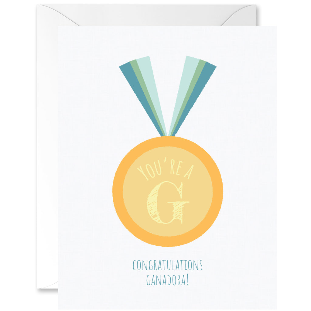 G for Ganadora Congratulations Medal [Spanglish]