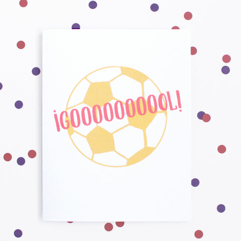 ¡Gol! You Did It. Encouragement Greeting Cards. www.sweetllamita.com