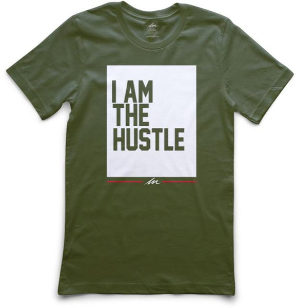 Ladies I Am The Hustle Flag Military Green Shirt | Hustle Clothing | Money Motivation Brand