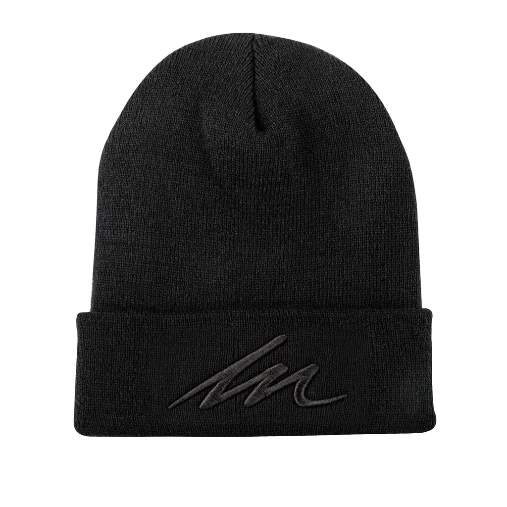 Eclipse MM Black Cuffed Beanie-money_motivation_brand
