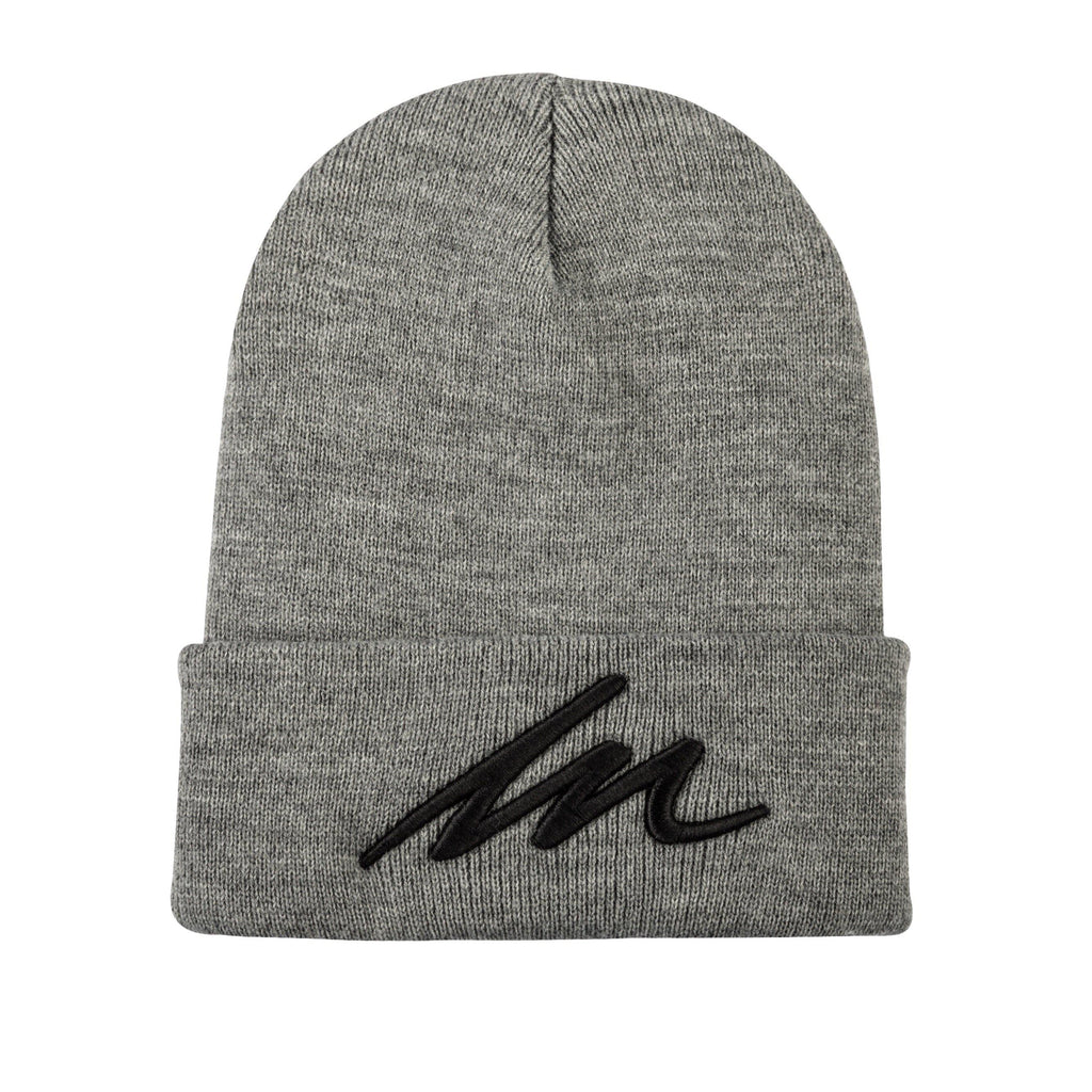 Eclipse MM Heather Grey Cuffed Beanie-money_motivation_brand