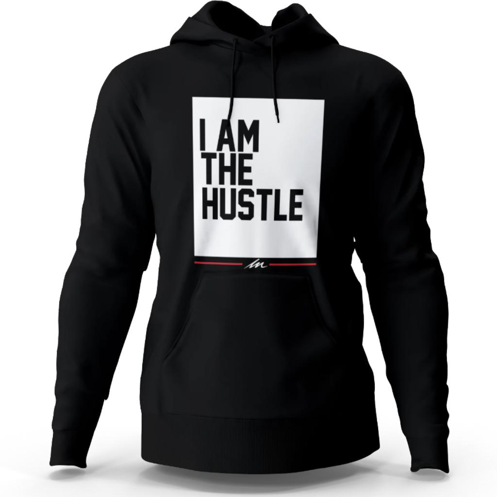 I Am The Hustle Flag - Black Hoodie (Heavy Blend)-money_motivation_brand