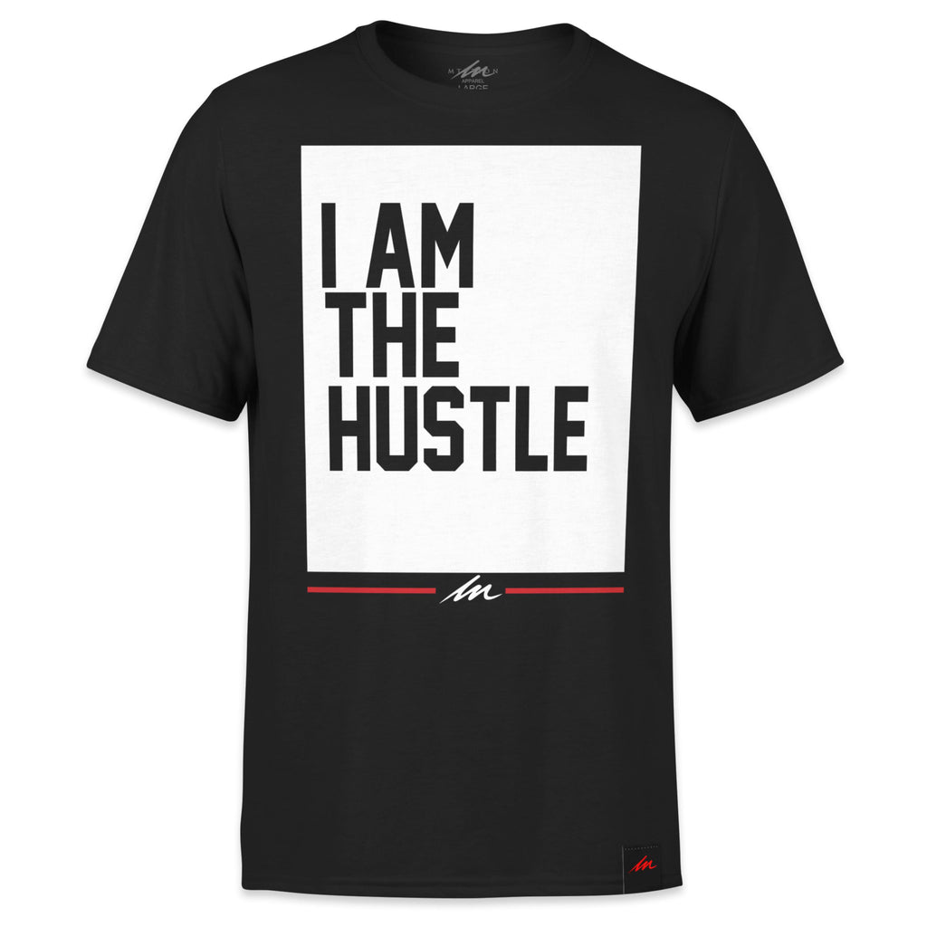 I Am The Hustle Flag - Black Shirt-money_motivation_brand