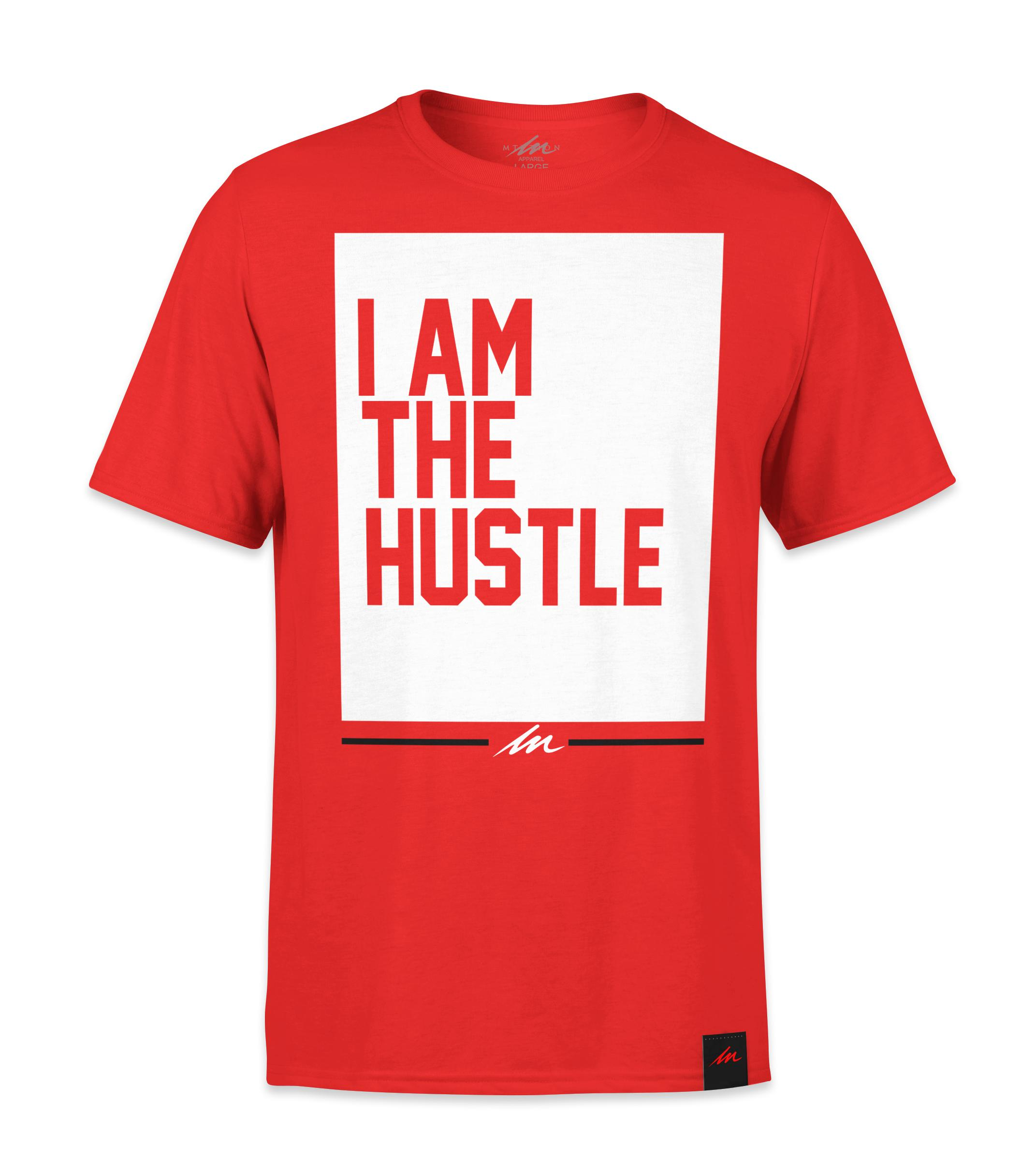 I Am The Hustle Flag - Red Shirt-money_motivation_brand