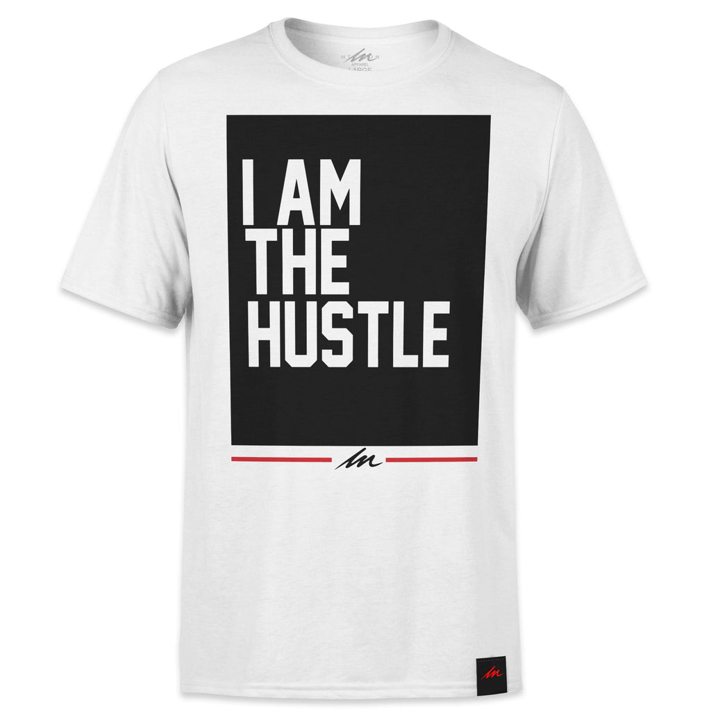 I Am The Hustle Flag - White Shirt-money_motivation_brand