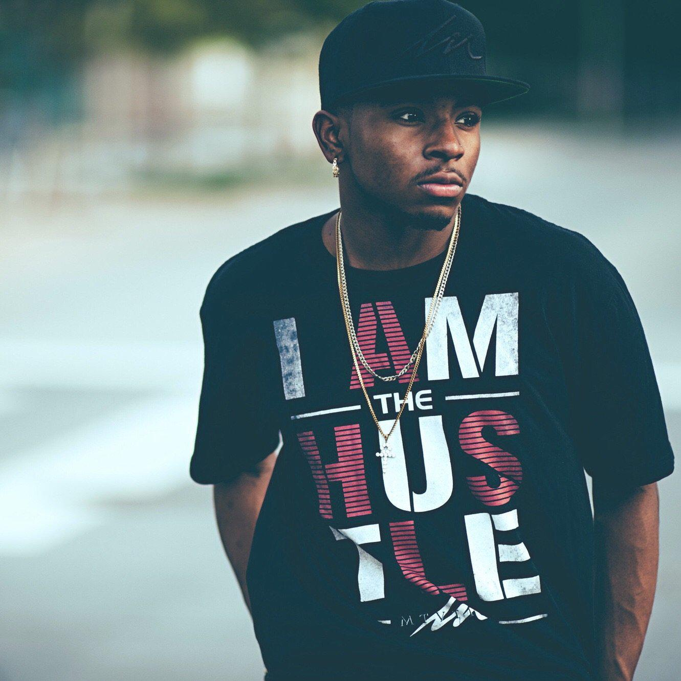 I Am The Hustle Grind - Black Shirt-money_motivation_brand