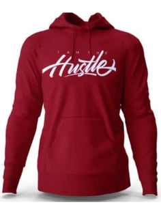 I Am The Hustle Graffito - Maroon Hoodie (Heavy Blend)