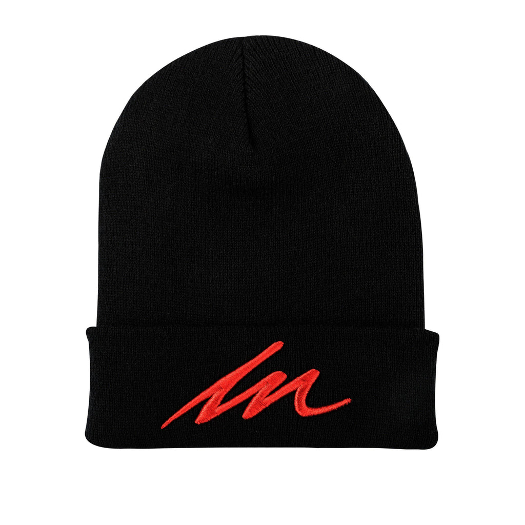 Inferno MM Black Cuffed Beanie-money_motivation_brand