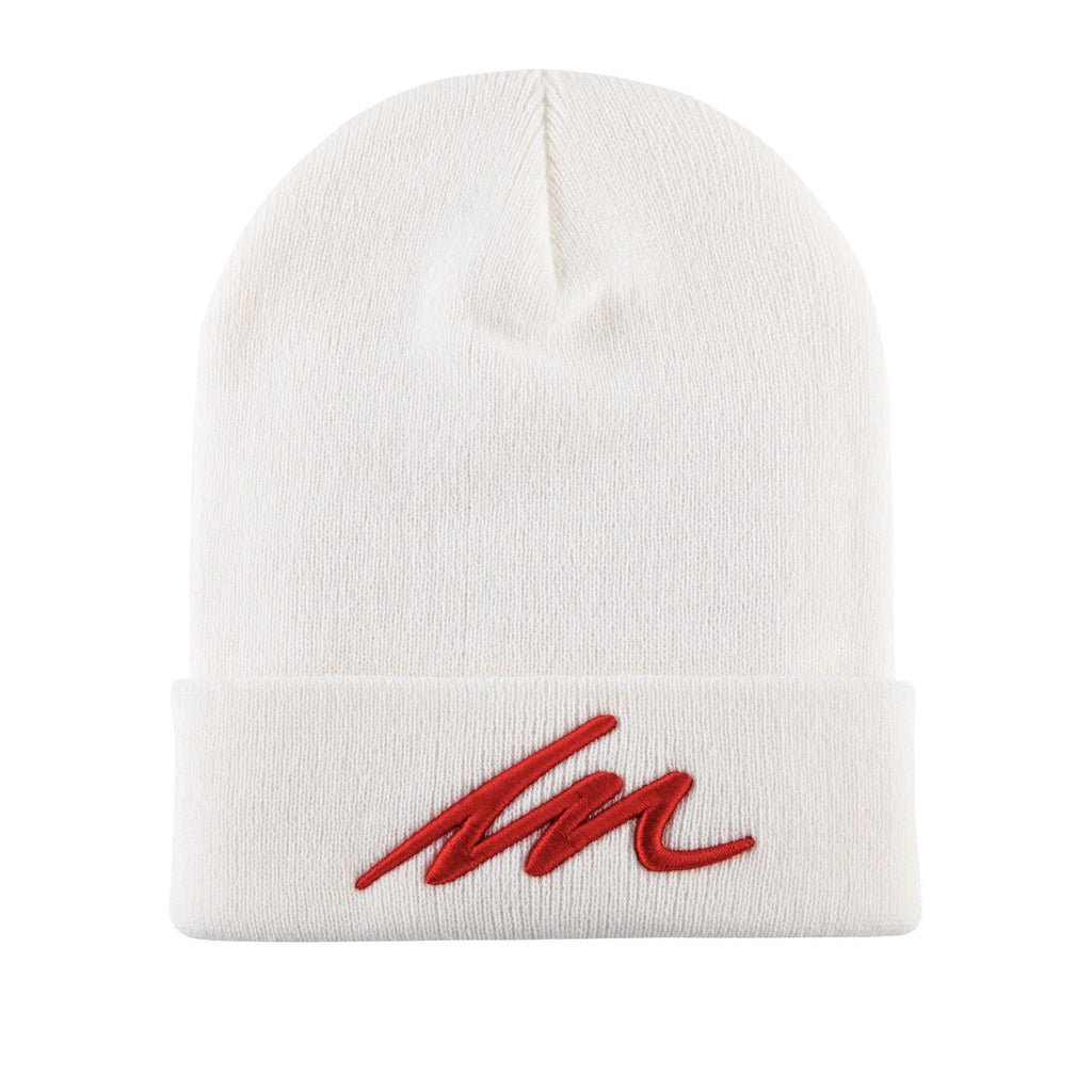 Inferno MM White Cuffed Beanie-money_motivation_brand