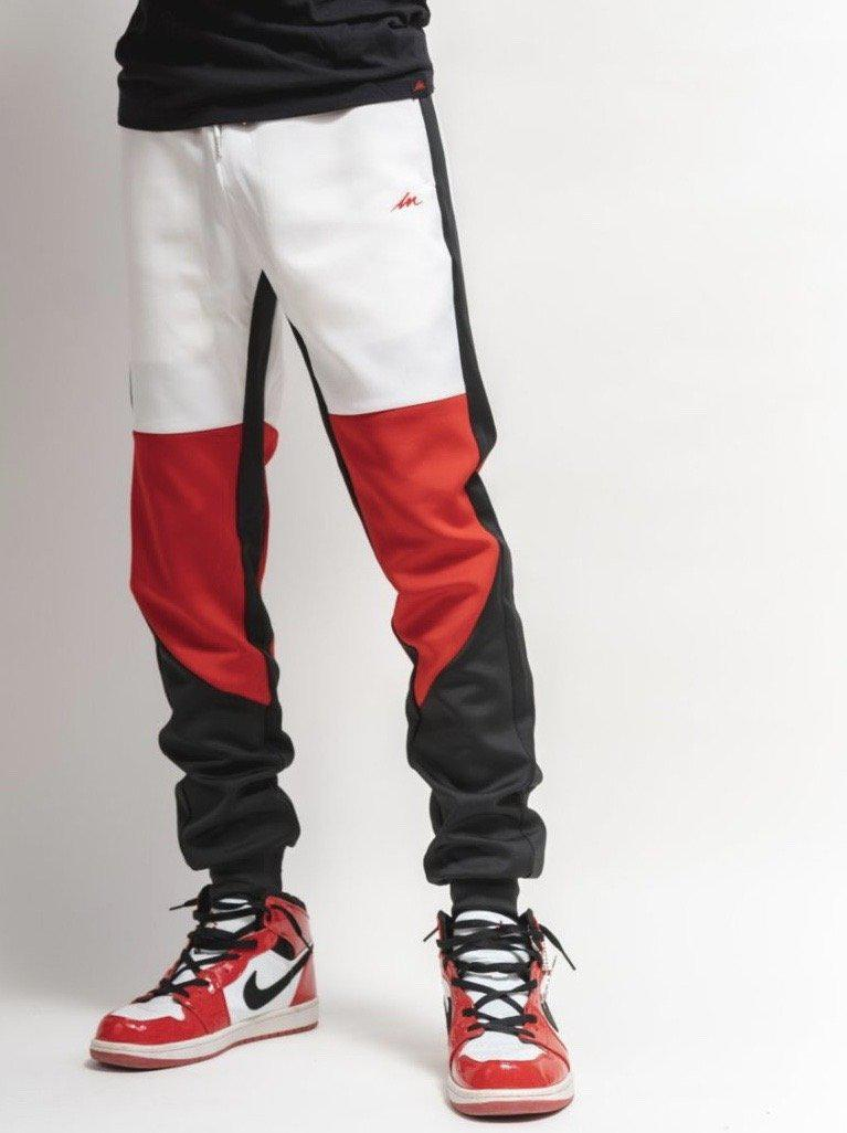 MM Jet Set Joggers - White Top-money_motivation_brand