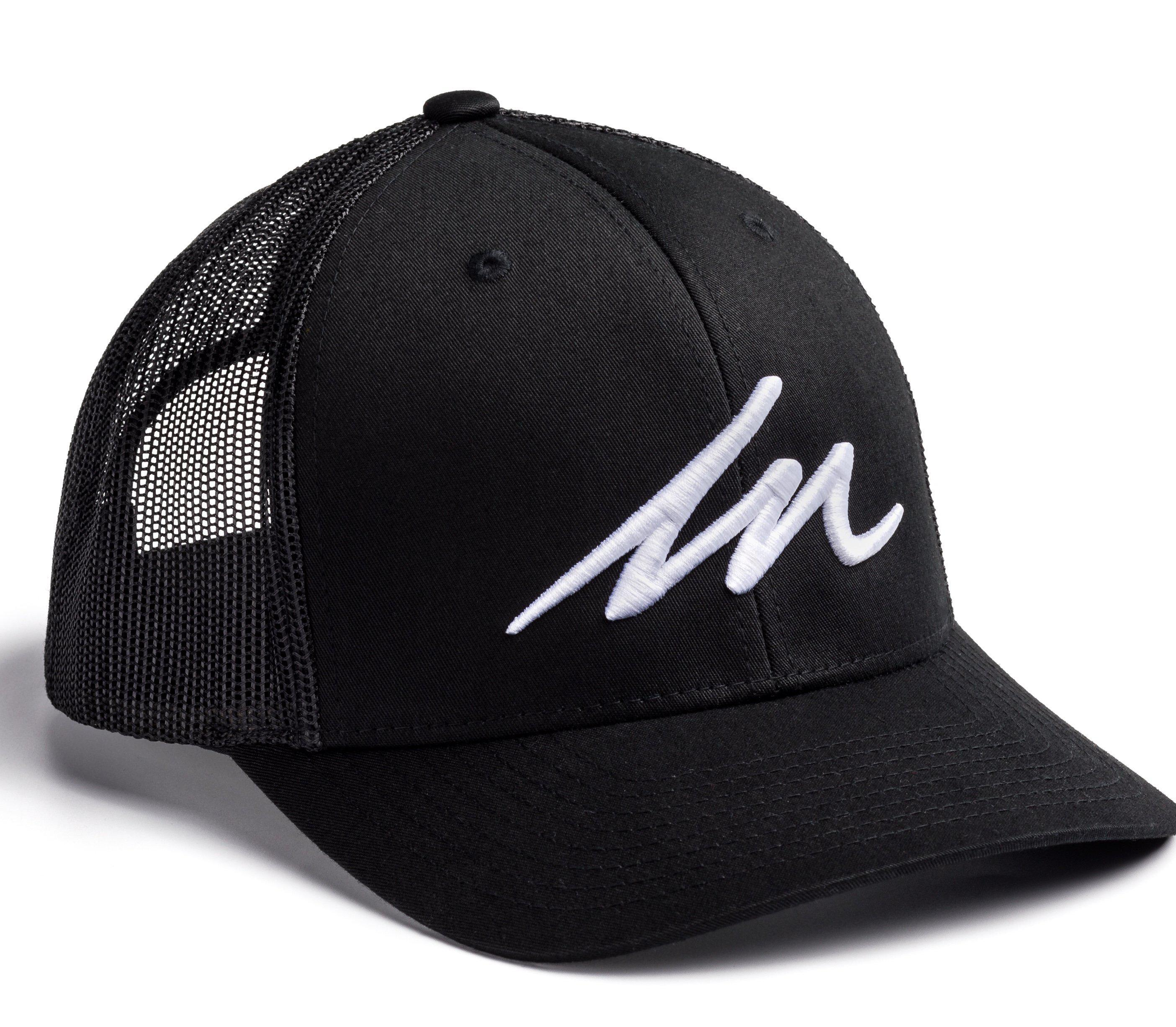White Sand MM Black Retro Trucker-money_motivation_brand