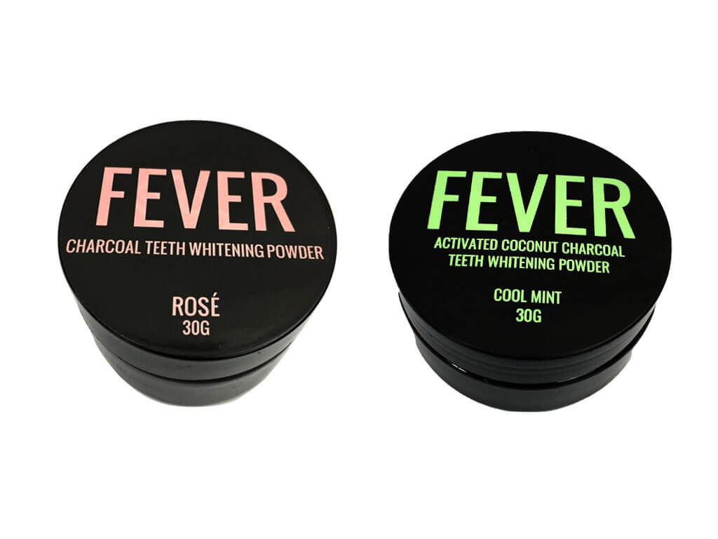 FEVER SMILE ACTIVATED CHARCOAL POWDER - ROSE & MINT