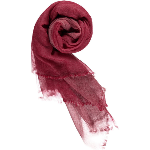 100% Superfine luxury Mongolian cashmere double side two colour scarf, strawberry pink outside and light pink inside