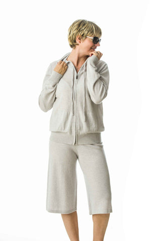 Diana,superfine cashmere sports top and shorts set