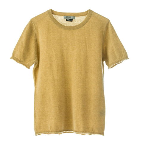 100% Mongolian short sleeve t shirt style top ,round neck, easy fit.