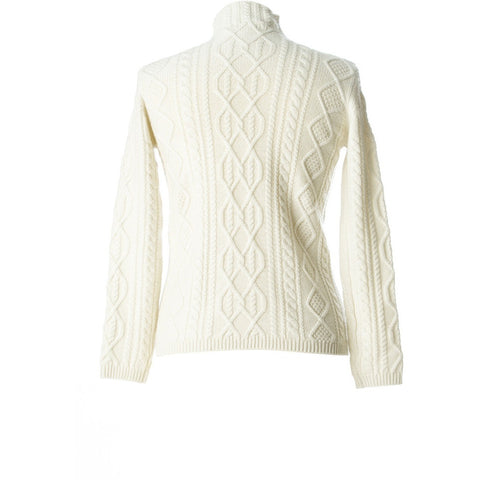 KERRY ,Ladies jumper hand knitted designer Mongolian Cashmere cream