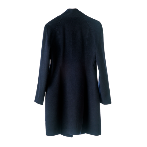 Victoria Navy Blue Superfine Cashmere  Overcoat