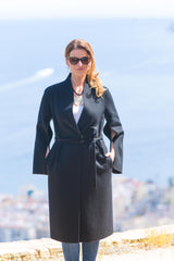 Diana Black  Superfine Cashmere Overcoat,full length