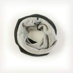 100% Mongolian cashmere luxury snood two colour,BLACK AND LIGHT GREY