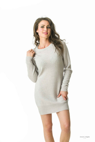 Natalie Dress,100% Mongolian cashmere fitted designer dress ,medium length