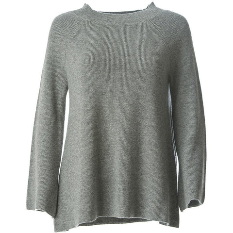 Paris,designer Cashmere ladies Jumper grey