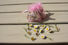 silk daisies for wedding garland hair