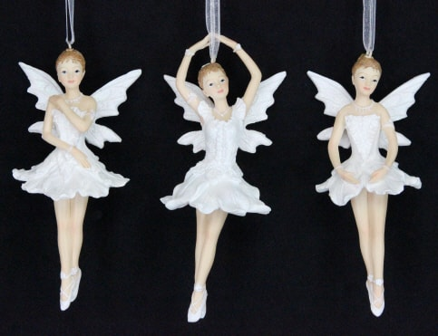 Hanging fairy ballerina Christmas ornaments