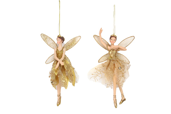 Gisela Graham 11713 Ballerina Fairy Christmas Ornament