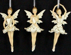 Cream/Gold Ballerina Fairy Decoration - Large