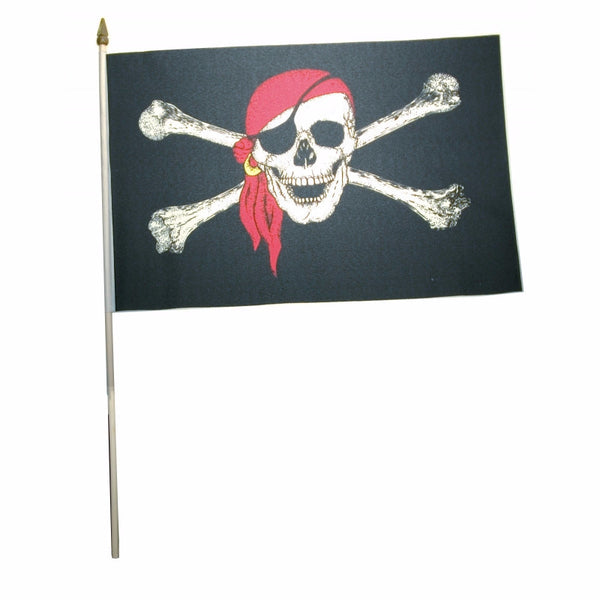 black pirate flag with skull and crossbones / jolly roger