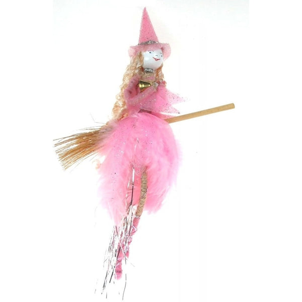 Pink hanging fairy kitchen witch