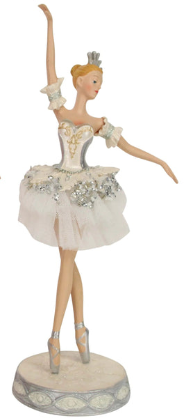 White and Pink Ballerina Figurines