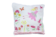 White Fabric Fairy Cushion Gisela Graham