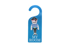 Blue pirate door hanger