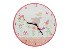 Gisela Graham Round Wooden Fairy Wall Clock