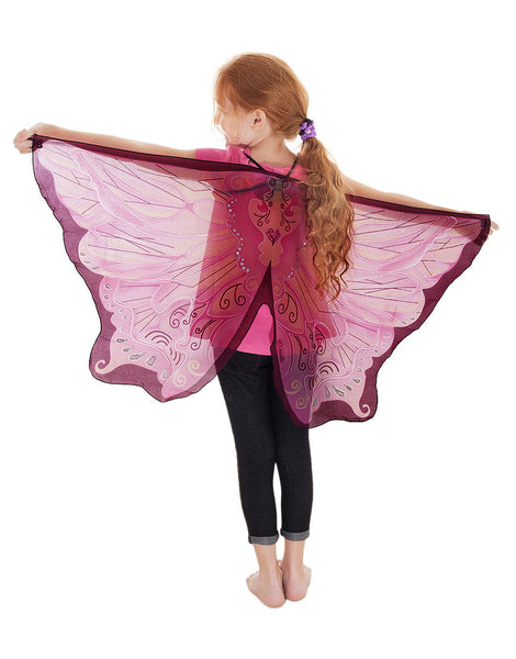 Pink flowing fairy wings