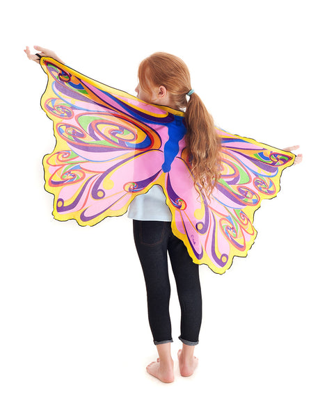 Rainbow Fairy Wings with Mask