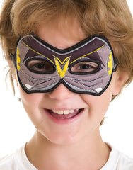 Children's Bat Mask, black and grey