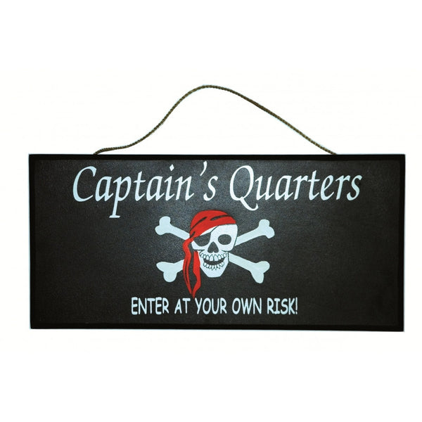 Skull and crossbones pirate door hanger, Enter at your own risk