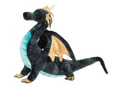 Aragon large plush dragon with gold highlights